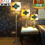 美式乡村复古创意树脂卧室落地台灯客厅书房北欧式田园装饰落地灯