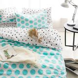 佐雅家纺四件套全棉韩式简约纯棉1.5米床单被套1.8m床上用品4件套