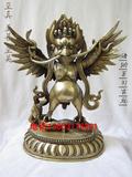 铜佛像密宗藏传佛教用品纯铜大鹏鸟迦楼罗鸟大鹏金翅鸟铜佛像摆件