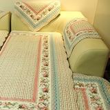特价全棉布艺四季沙发垫防滑坐垫田园沙发巾飘窗垫韩式全盖套纯棉