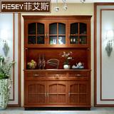 美式餐边柜实木酒柜储物柜客厅收纳柜欧式餐边酒柜厨房碗柜茶水柜