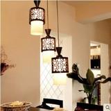 现代新中式单头小吊灯实木古典圆筒阳台过道灯创意个性饭厅餐厅灯
