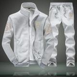 男士运动套装2016春秋季新款大码长袖外套青少年休闲运动加绒卫衣