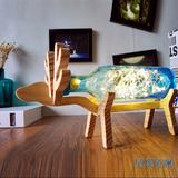 原创设计小鹿灯 手工创意玻璃小夜灯北欧风台灯宜家LED床头灯礼物