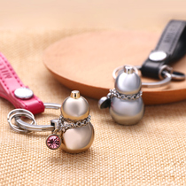Small gourd key buckle male key pendant female car key chain ring creative Chinese wind safety custom engraving