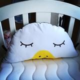 纯棉鸭头大靠垫可爱嘎嘎鸭子床头软包呆萌儿童床头靠大靠枕枕头