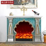 1.5米欧式壁炉 装饰柜客厅简约白色取暖器电视柜电壁炉架