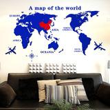 3D亚克力立体墙贴创意家居世界地图办公室墙贴纸客厅装饰贴画贴纸