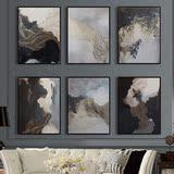 现代简约抽象装饰画 客厅玄关壁画竖版巨幅墙画过道艺术挂画