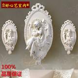 欧式家居客厅酒店壁挂壁饰装饰艺术复古天使挂饰玄关个性树脂挂件