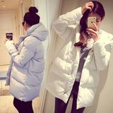 2015冬季棉袄韩版宽松羽绒棉服连帽中长款外套学生加厚棉衣女潮