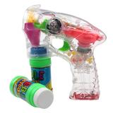 夏季热卖电动吹泡泡枪全自动透明灯光音乐泡泡枪闪光玩具批发包邮