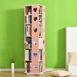 简易旋转书架落地组合书柜儿童学生小书架简约现代创意书架置物架