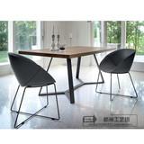 北欧餐桌创意家具设计师办公桌铁艺餐桌书桌会议桌实木咖啡桌组合