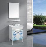 新款3D印花太空铝卫浴柜浴室柜组合卫生间洗手盆组合柜落地浴室柜