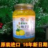 都润良品韩国原装进口金香蜂蜜柚子茶冲饮1KG包邮 VC果茶pk全南KJ