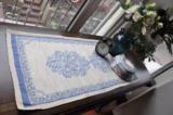 葵花地出口韩国定单 外贸原单库存亚麻长方桌旗 多用垫 红 蓝两色