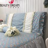 BeautyDream韩版复古纯棉床品系列床头套 时尚碎花床头罩/防尘罩