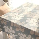 高档布艺纯棉厚现代简约北欧宜家清新田园 餐桌布茶几布 定制桌布