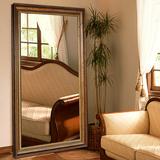 欧式穿衣镜子全身镜试衣镜子镜落地镜壁挂田园装饰镜3018