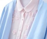 布桃子2016春季新款 针织衫开衫毛衣女 V领长袖外套上衣女装外搭
