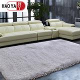 灰色地毯 卧室床边毯加厚长毛 长方形客厅茶几垫可定制定做纯色