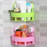 【天天特价】强力吸盘浴室三角置物架吸壁式卫生间壁挂浴室沥水架