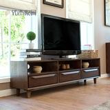 纯实木电视柜进口白橡木1.8米电视柜日式简约现代客厅胡桃色家具