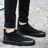 春季帆布鞋子男士休闲鞋运动男鞋板鞋潮流林弯弯布鞋低帮懒人潮鞋