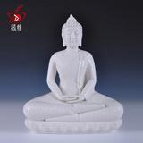 润致 高档佛教装饰摆件泰国佛像释迦牟尼雕像摆设陶瓷家居工艺品