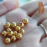 美国原装进口14K包金珠光珠隔珠散珠定位珠不褪色DIY饰品配件批发