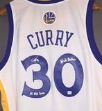 库里亲笔签名球衣 Curry签名球衣金州勇士签名斯蒂芬库里生日礼物