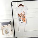 高端女装商场尾货正品特价清仓 印花百搭短袖 T恤   AS2804