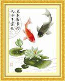 蒙娜丽莎年年有余十字绣 鲤鱼十字绣简单新手客厅新款动物系列画