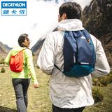 迪卡侬 双肩背包男/女 旅行休闲迷你运动包 潮帆布包 10L QUECHUA