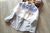 外贸原单童装儿童衬衫男童长袖春装 宝宝儿童长袖衬衣纯棉春秋款