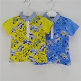 小猪班纳小男童装 255252022 夏婴童纯棉POLO衫短袖针织衫 满包邮