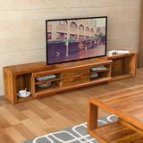 新中式客厅实木电视柜简约1.6米小户型胡桃木可伸缩地柜家用矮柜