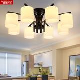 现代简约客厅大气LED吸顶灯饰 北欧创意餐厅书房玻璃灯卧室灯具