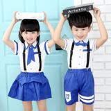 幼儿园园服夏季新款中小学生儿童校服套装学院风班服男女童演出服