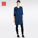 女装 针织V领连衣裙(7分袖) 187076 优衣库UNIQLO