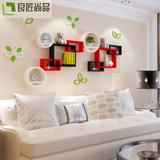 墙上置物架壁挂创意墙壁隔板客厅电视背景墙装饰架卧室壁柜格子架