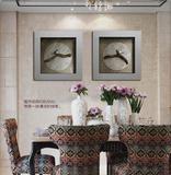 新中式客厅浮雕立体装饰画花鸟画书房餐厅后现代简约挂画欧式壁画
