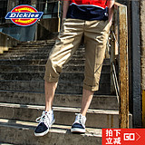 Dickies2016新款男休闲中裤 夏季修身潮工装7分马裤143M40EC02