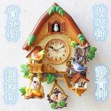 北极星机芯咕咕钟卡通创意挂钟儿童房卧室静音石英钟客厅钟表挂表