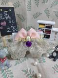 泰迪金毛粉蕾丝珍珠宠物猫狗通用蝴蝶结钻饰品项链皮项圈铃铛包邮