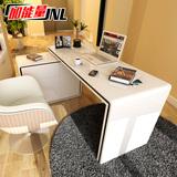 加能量转角电脑桌台式家用简约办公桌烤漆旋转书桌书柜组合写字台