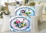 十字绣最新抱枕一对结婚喜庆系列花卉卡通单人枕头套长枕包邮