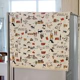 双开门冰箱防尘罩盖巾欧式对开门布艺田园收纳袋式韩棉麻防尘盖巾
