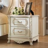 欧式床头柜实木雕花床头柜法式床头柜白简约床头柜欧式客厅储物柜